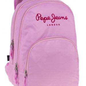 A Mochila Pepe Jeans Pink  Compartimentos Adaptable a carro