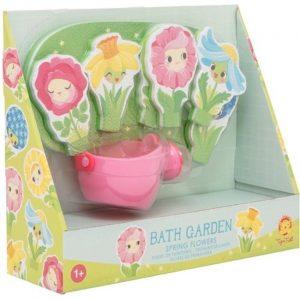 juego bano flores