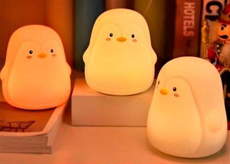 Por nocturn nens lampara led pingüí