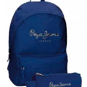 mochila pepe jeans harlow azul