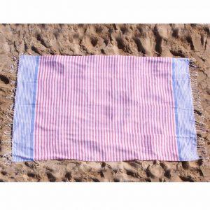 toalla playa fouta rayas roa turquesa